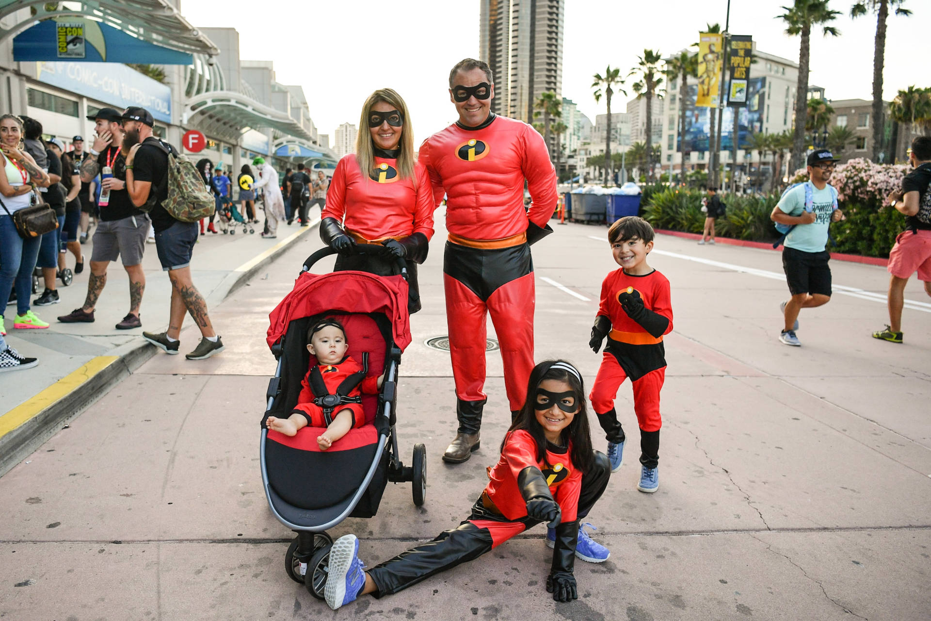 An incredible family affair. Cosplayers pose at San Diego Comic-Con International. Dia Dipasupil/Getty Images
