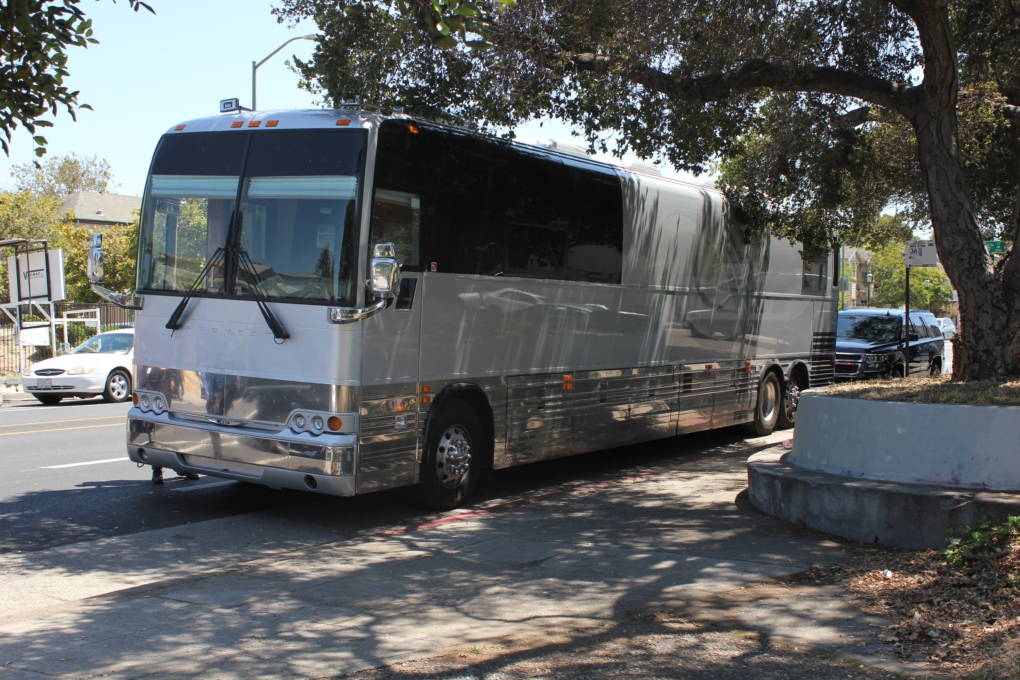 The March for Our Lives tour bus arrives with 15 youth survivors of the Parkland, Florida school shooting and gun violence elsewhere in the nation. The teens and young adults say they're energized from their previous stop in Irvine, CA--a church event that organizers say drew 2,000 people.