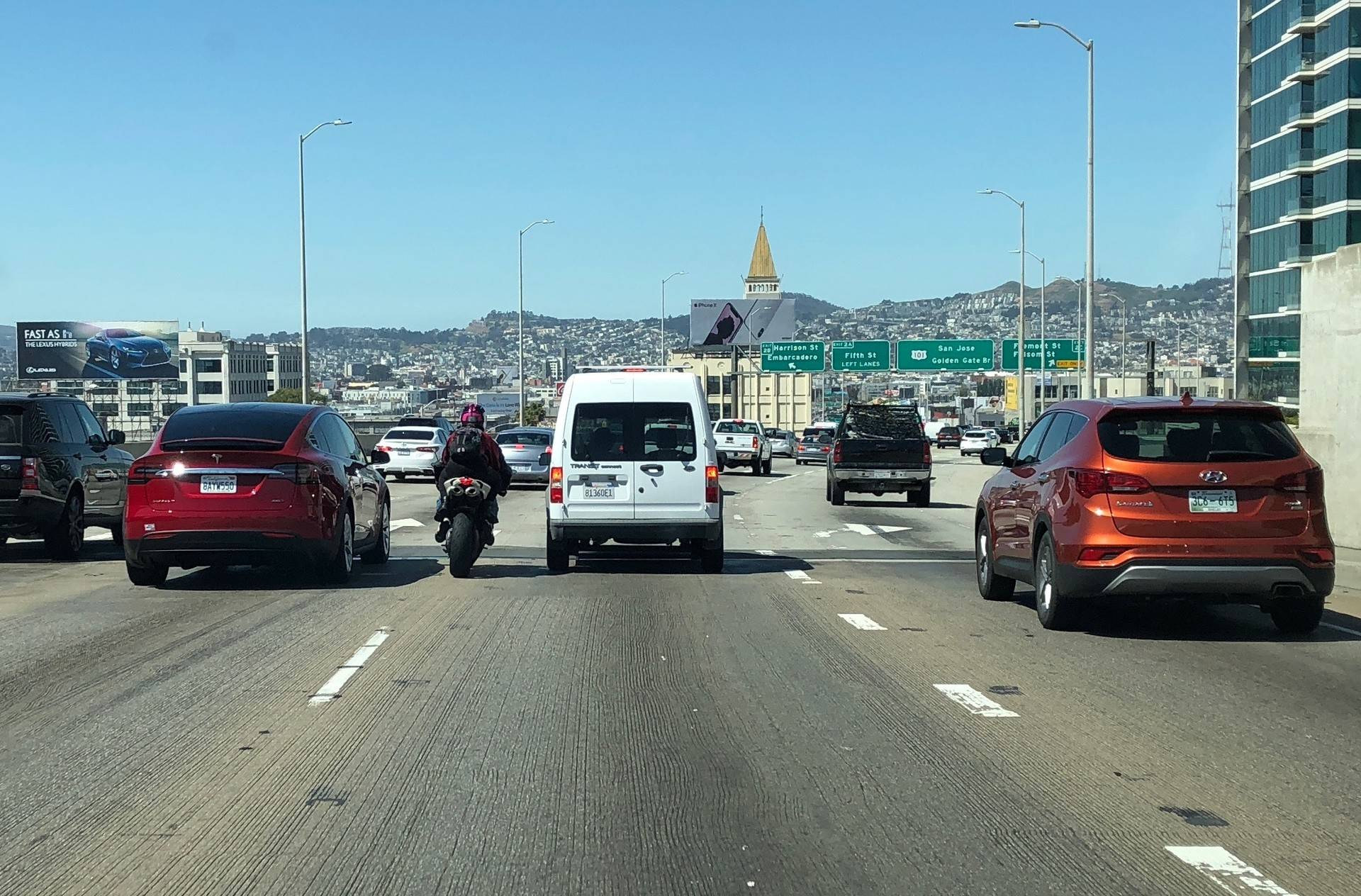 California is the only state in the country where it is legal to lane split. Craig Miller/KQED