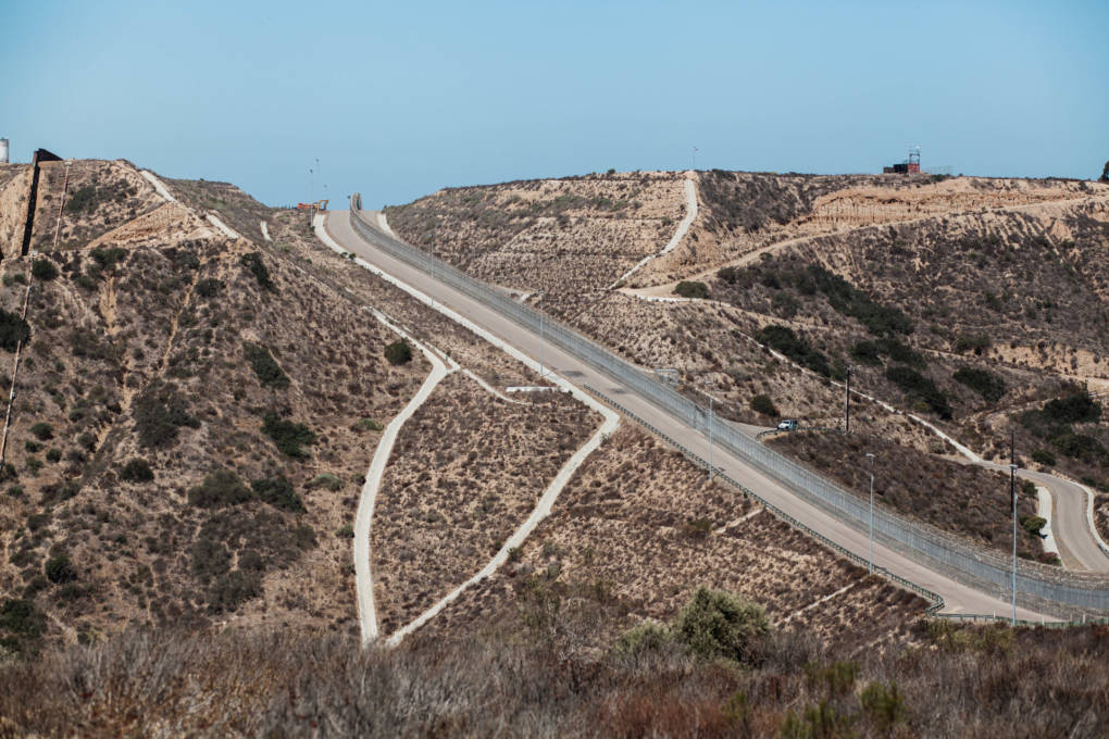 "The secondary fence along the U.S.-Mexico border is near an area known as ""Smuggler's Gulch""."