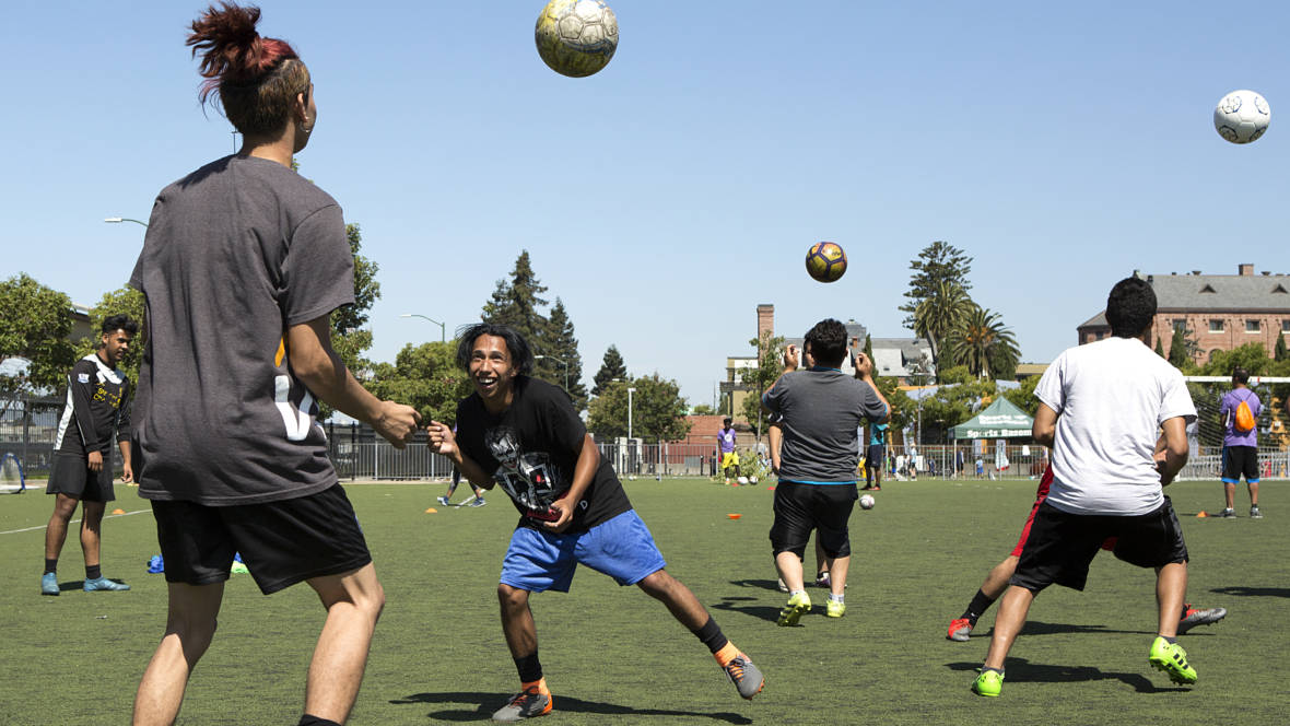 PHOTOS: For Refugee Youth, Soccer Provides a Common Language