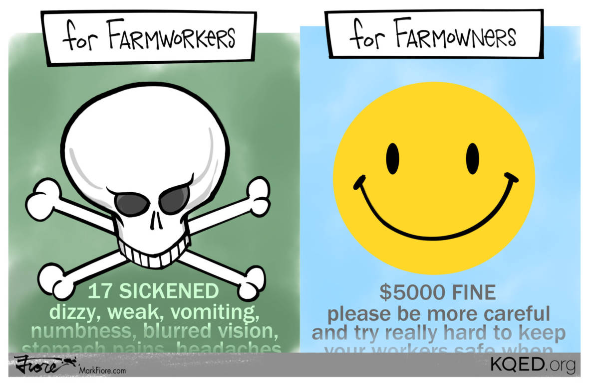17 Sickened Farmworkers, 9 Pesticides, 1 Fine