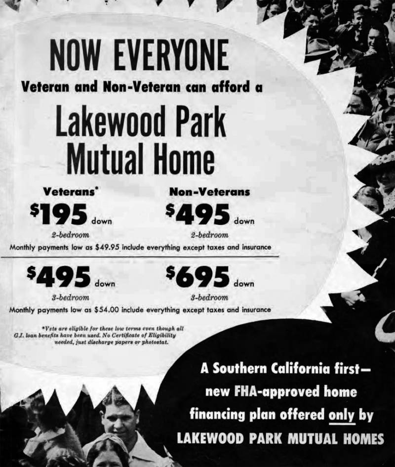 Lakewood's development never stopped, although the start of the Korean War slowed the financing of new construction. 1952 Lakewood's development never stopped, although the start of the Korean War slowed the financing of new construction.