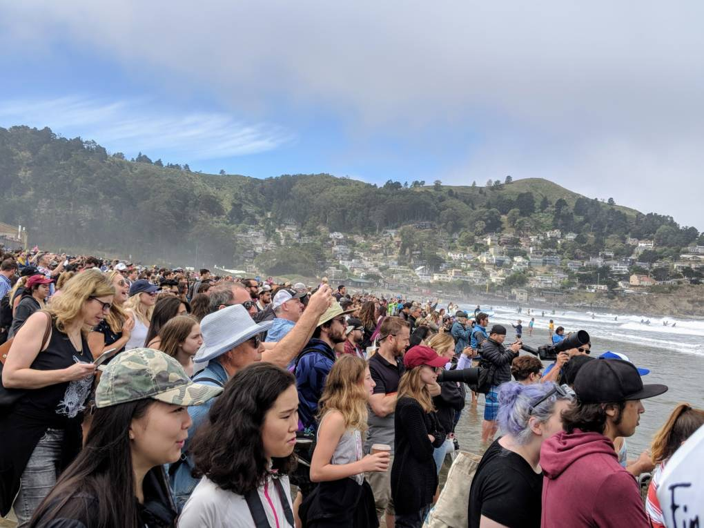 Thousands of people came out to the third annual World Dog Surfing Championship in Pacifica on Saturday, August 4th.