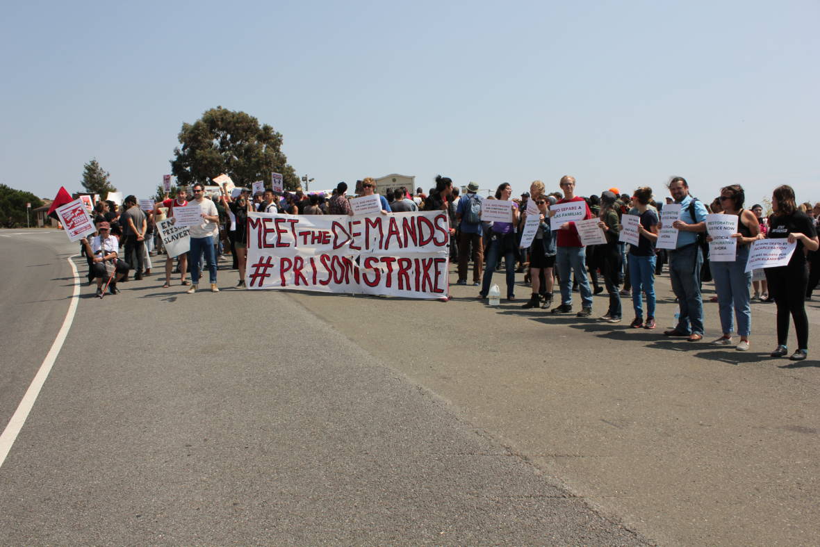 Protest Held Outside San Quentin as Part of National Prison Strike