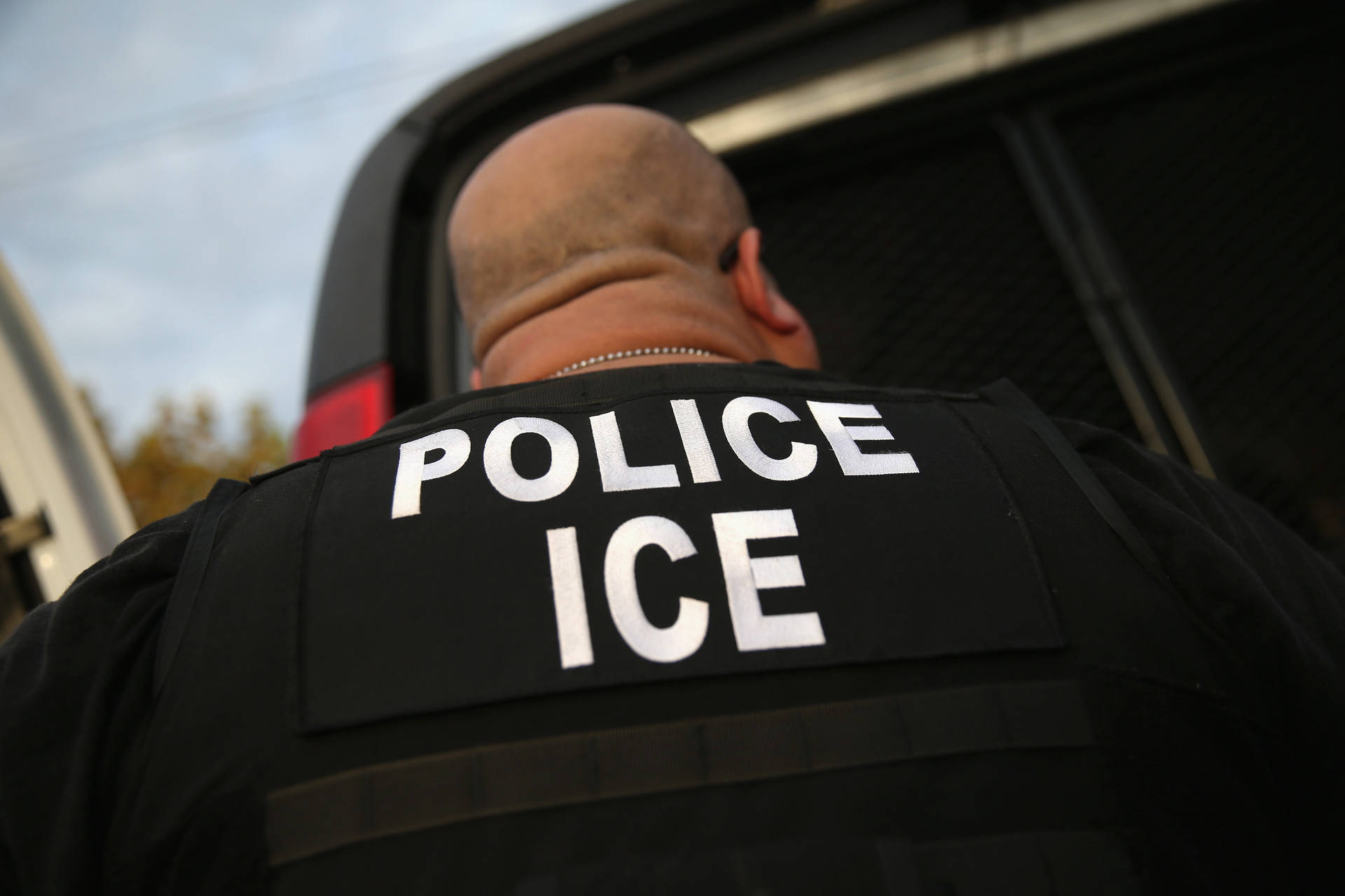 U.S. Immigration and Customs Enforcement officials say they detained the man due to an outstanding arrest warrant in a homicide case in Mexico. John Moore/Getty Images