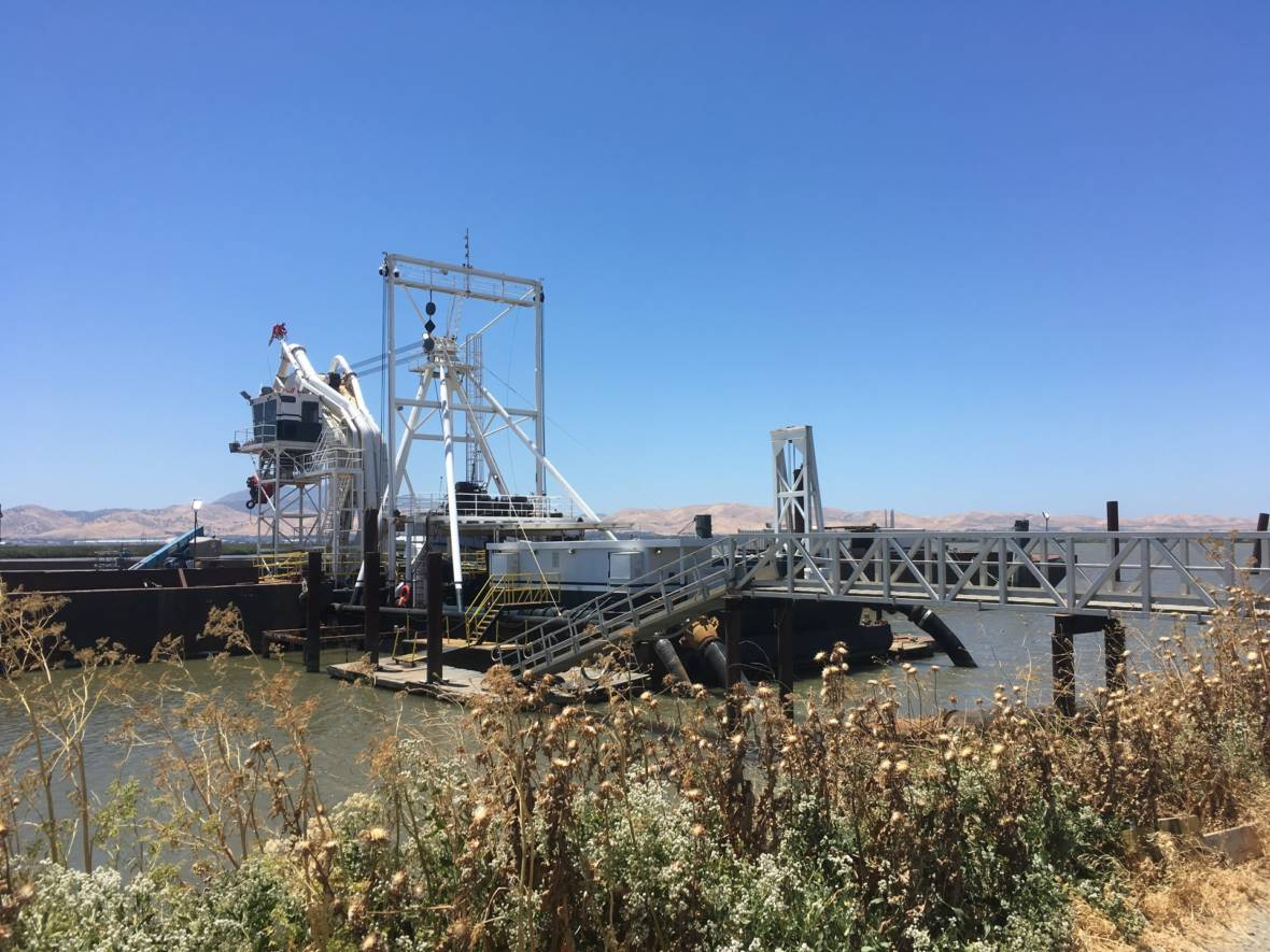 How Dredging the Bay Is Helping Restore Delta Wetlands