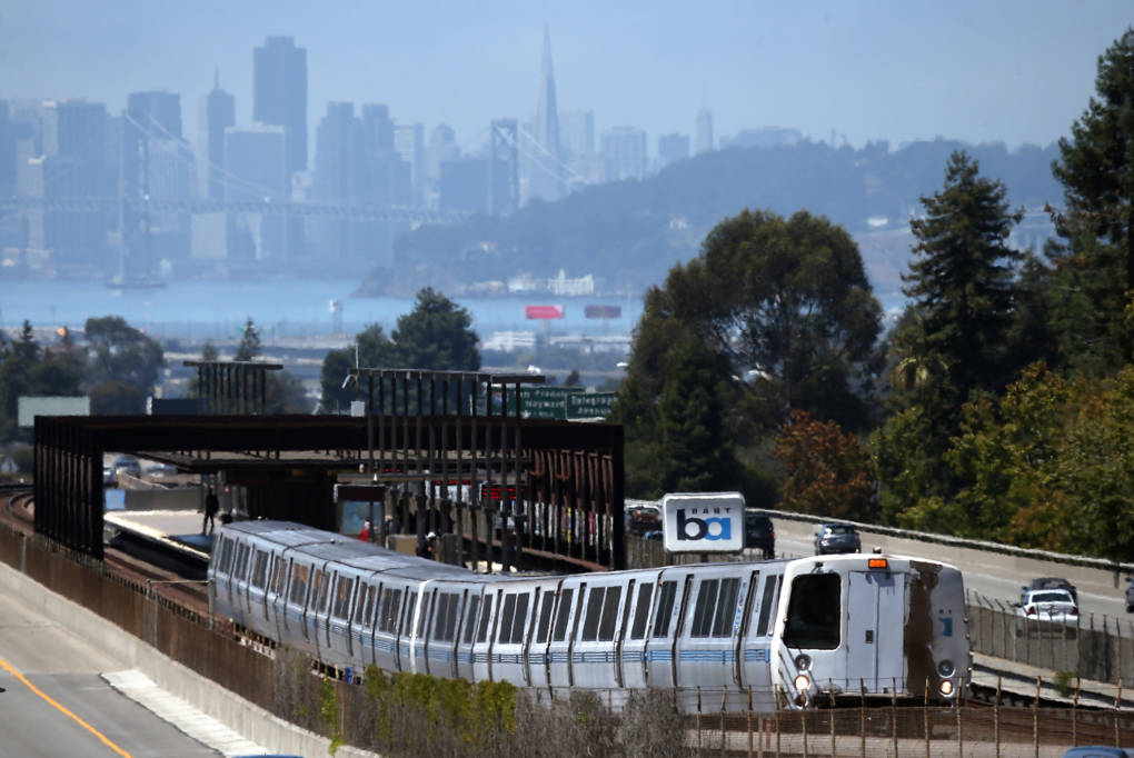A BART Train in Oakland.
