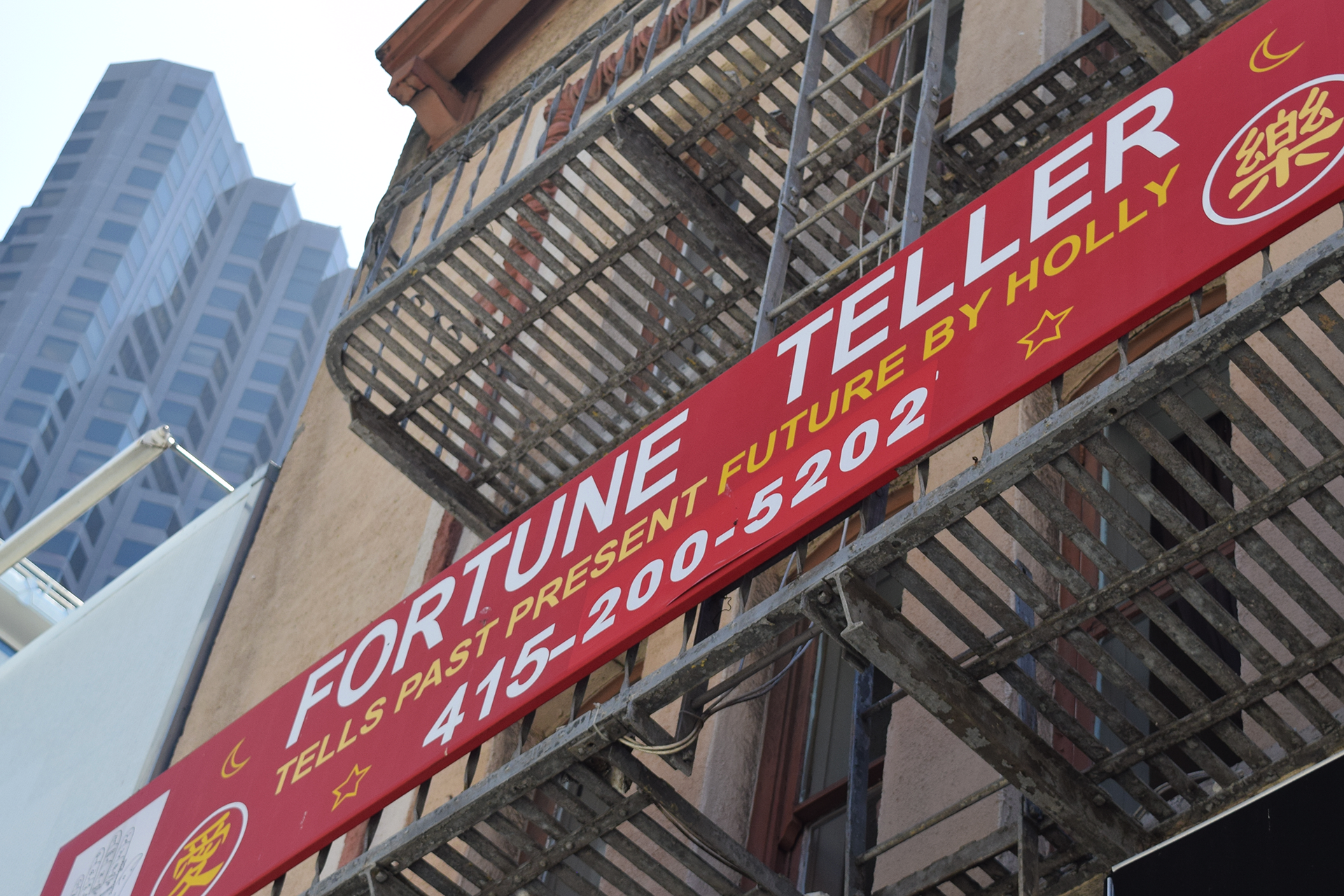 A sign advertises fortunetelling services in San Francisco Carly Severn/KQED
