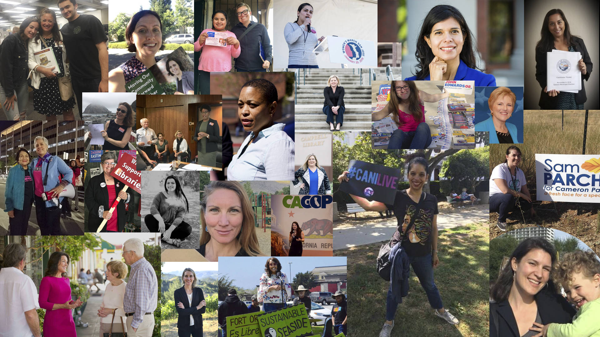 """A collection of photos submitted by women running for office this year as part of our series, """"The Long Run."""" Images courtesy of candidates"""