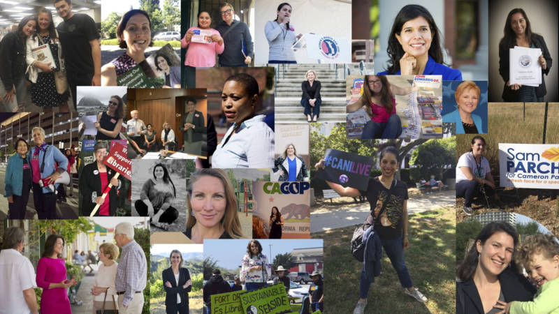 "A collection of photos submitted by women running for office this year as part of our series, ""The Long Run."""