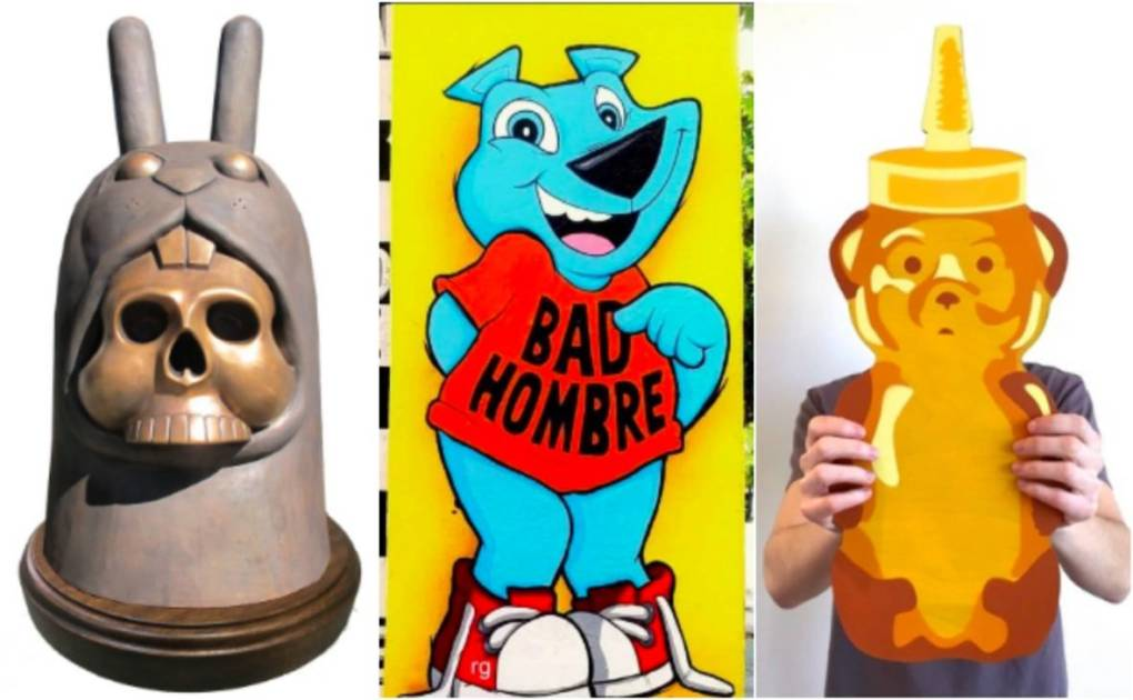 (L-R) Jeremy Fish's Bronze Bunny, Sirron Norris' Bad Hombre, Fnnch's Honey Bear