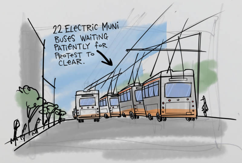 Buses by Mark Fiore