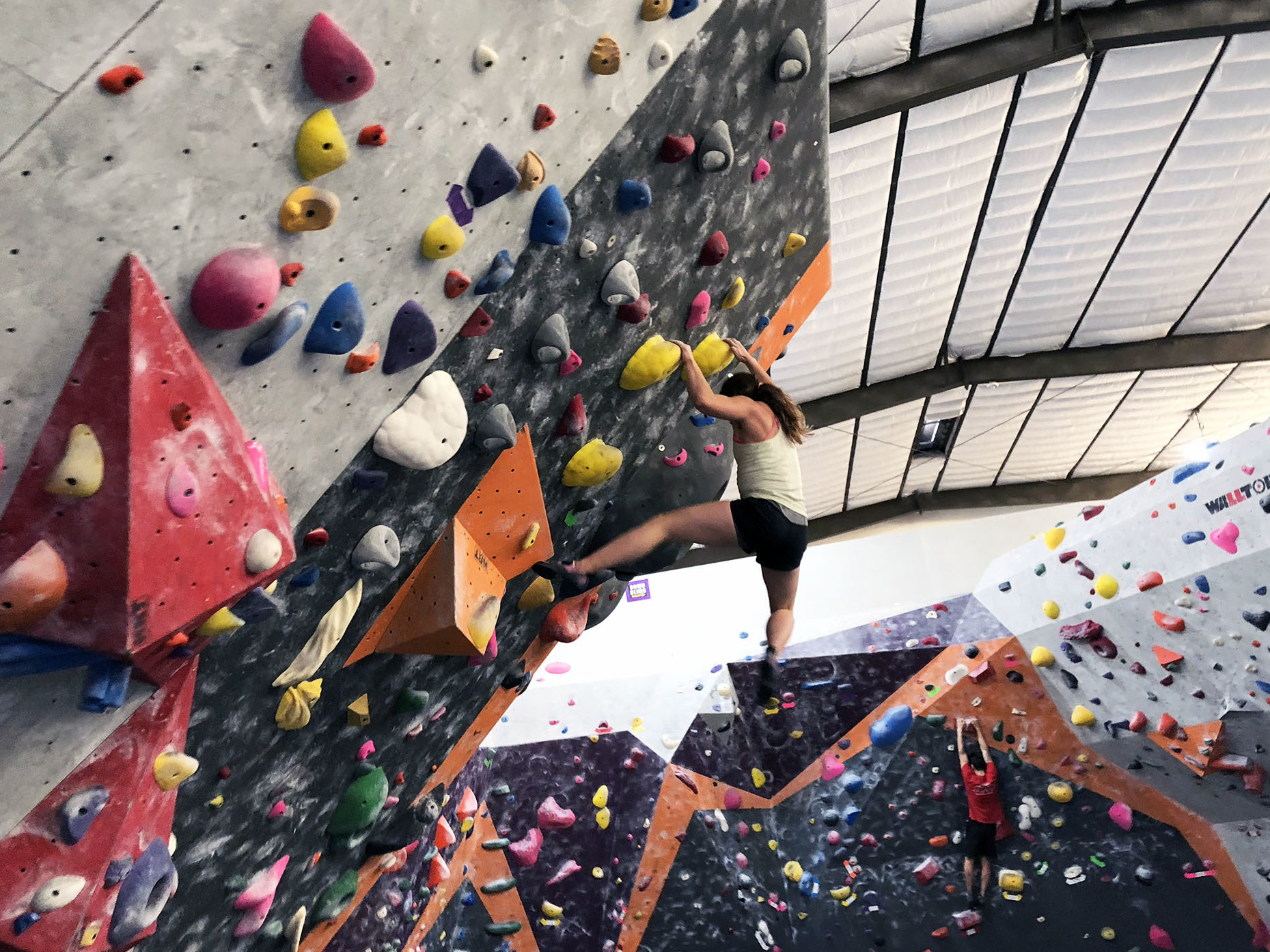 Rock climbing gyms have changed rock climbing in Yosemite, from who climbs to how they climb. Hannah Hall climbs at Pipeworks in Sacramento. She said that climbing at the gym has made her a lot stronger while climbing outdoors.