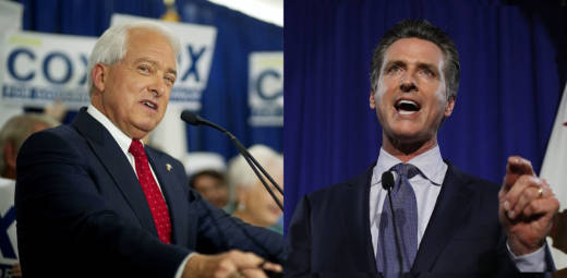 John Cox and Gavin Newsom