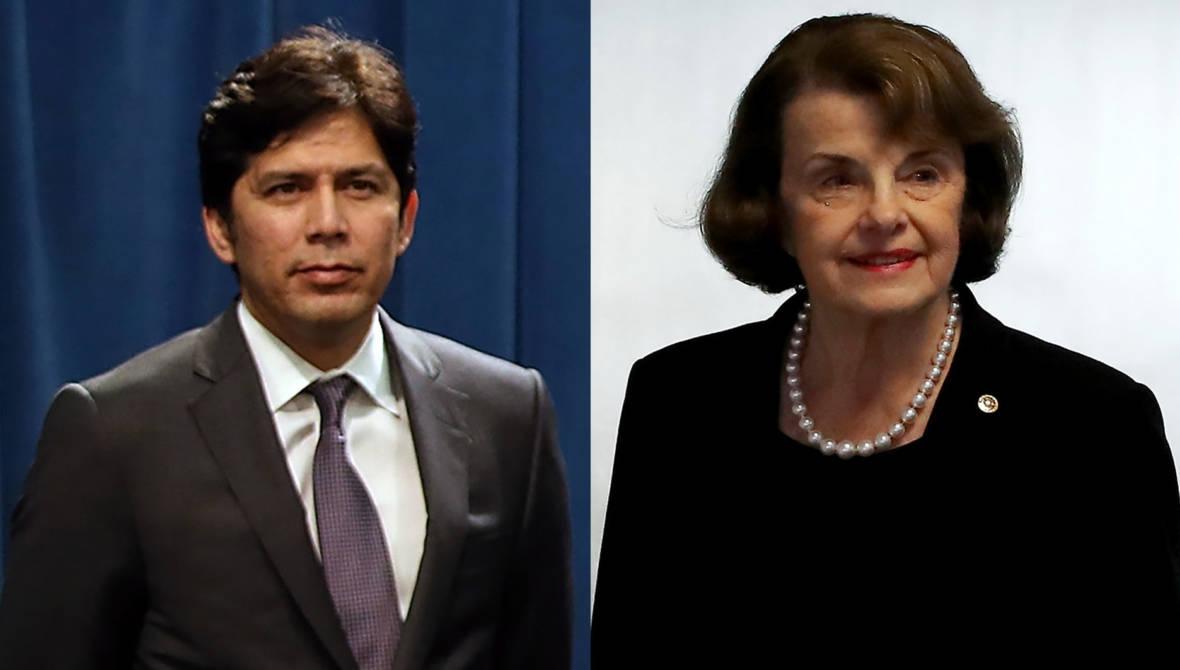California's Senate Candidates Dianne Feinstein, Kevin de León Debate Policy Visions