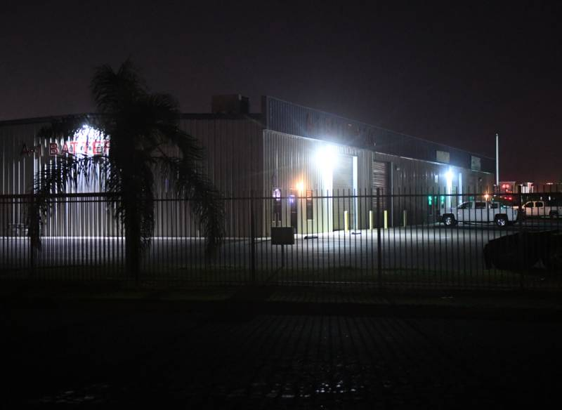 The T&T Trucking Company headquarters, the scene of the first of Wednesday evening's shootings, in Bakersfield.