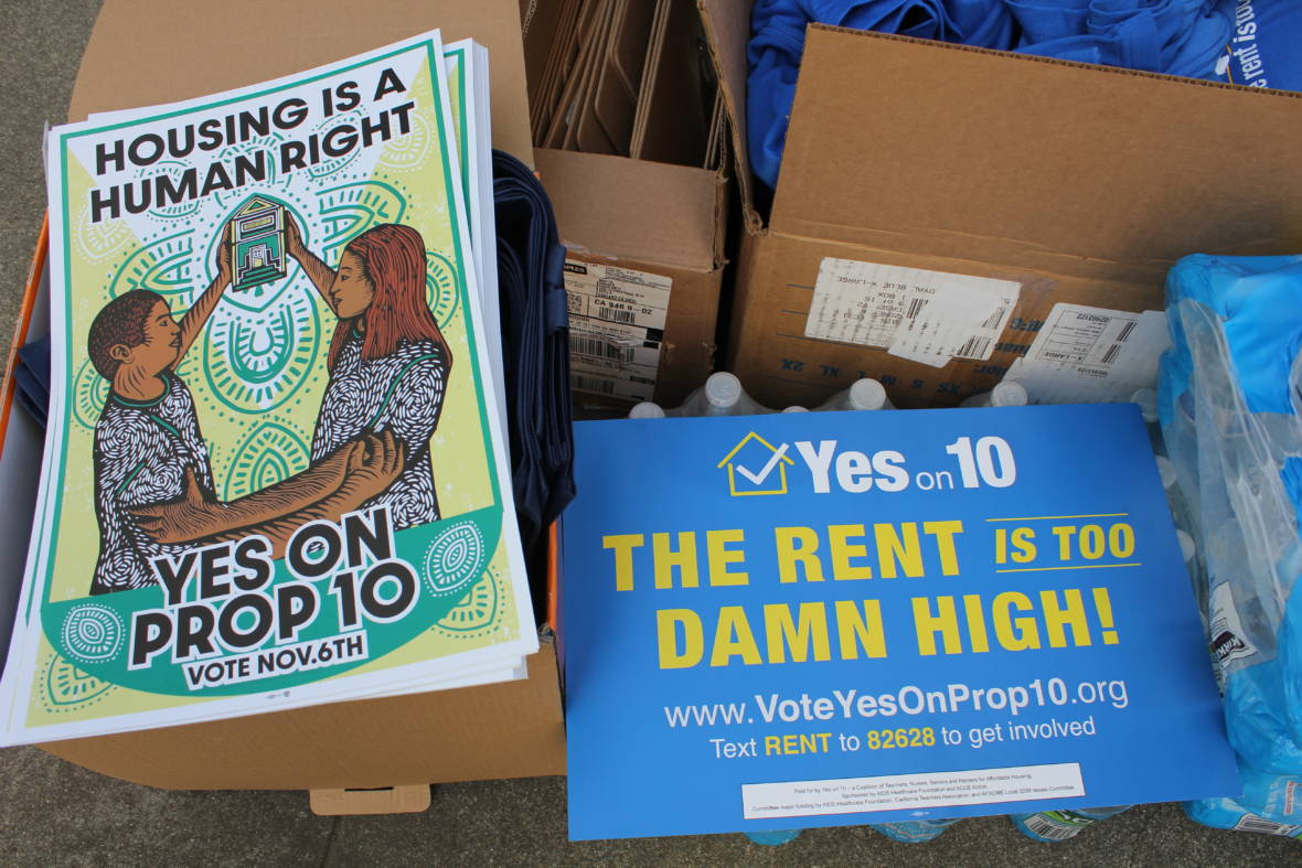 Statewide Rallies Held in Support of Proposition to Repeal Rent Control Law
