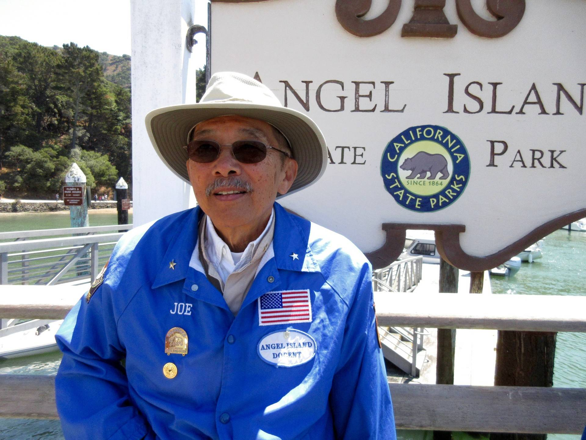 Joe Chan, volunteer docent, grew up not knowing his parents were detained at Angel Island.  Marisol Medina-Cadena/KQED