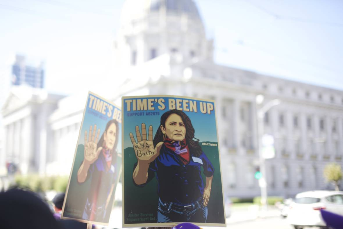 100 Janitors March 100 Miles to Stop Rape on the Night Shift
