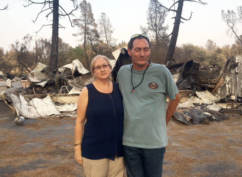 Wendy and Norm Alvarez lost their home to the Carr Fire earlier this summer.