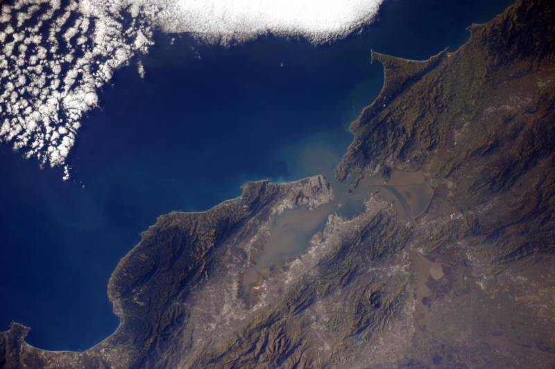 An image of the San Francisco Bay Area taken by Samantha Cristoforetti, an Italian crew member aboard the International Space Station.
