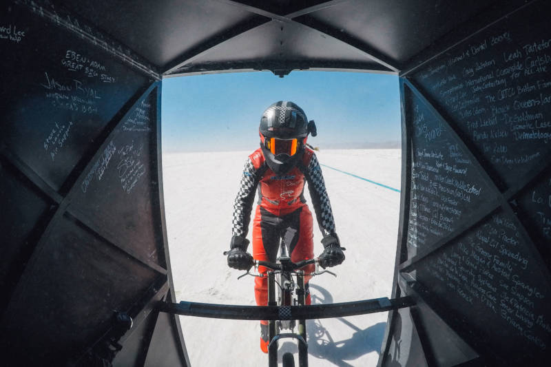 California Woman Rides Bicycle to 183.9 MPH — a New World Record