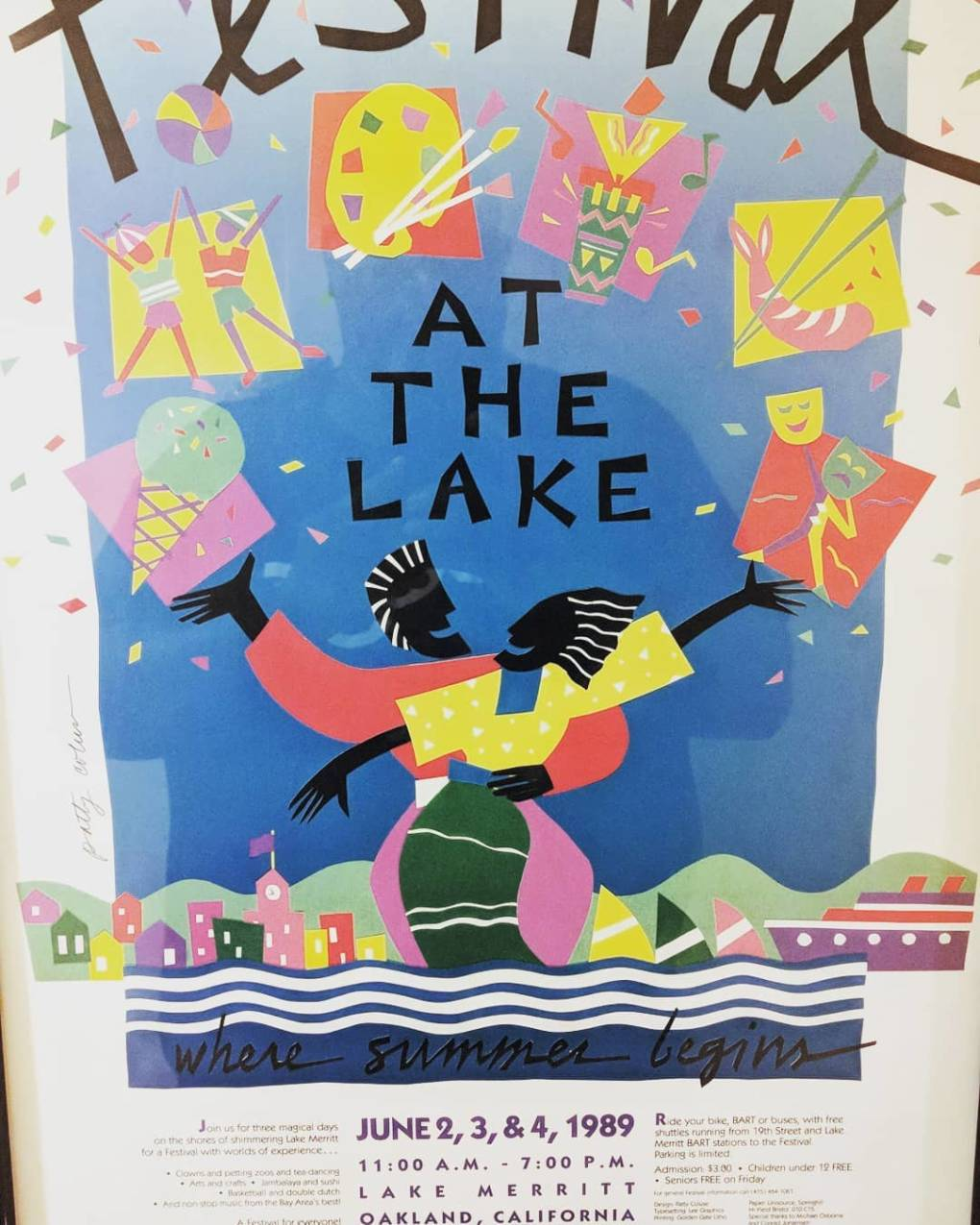 """'Member this? #RealOakland. Where the playas showed up and showed out and the women came out to do one another in they biker shorts and asymmetrical perms... BUT still family friendly really bring the kiddies out,"" writes @antmooak in an Instagram post about the Festival at the Lake."