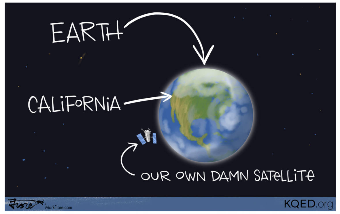 Gov. Brown Launches 'Our Own Damn Satellite'
