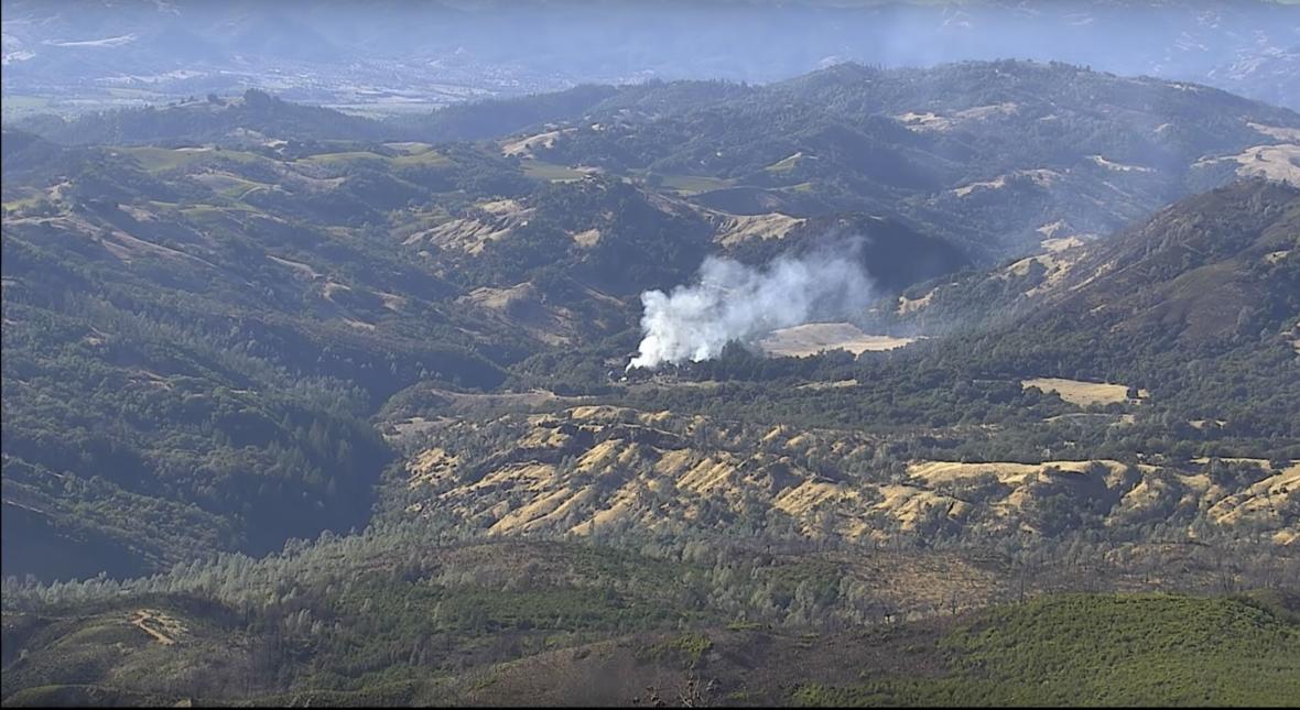 VIDEO: Fire Camera Detects Wildland Blaze East of Geyserville