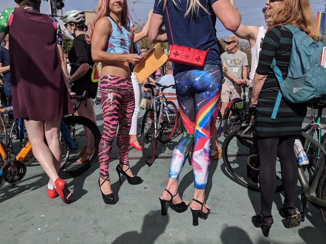 Opponents of Gas Tax Repeal Don Wigs and Heels for Political Bike Ride