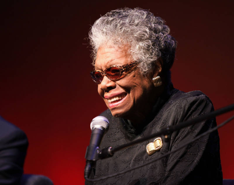 The late Maya Angelou, pictured in 2010.