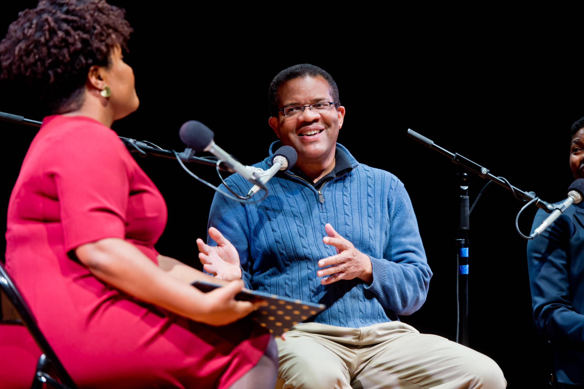 Dr. Tony Iton talks with KQED's Tonya Mosley at the Bayview Opera House on May 7, 2018. Alain McLaughlin/Alain McLaughlin Photography Inc