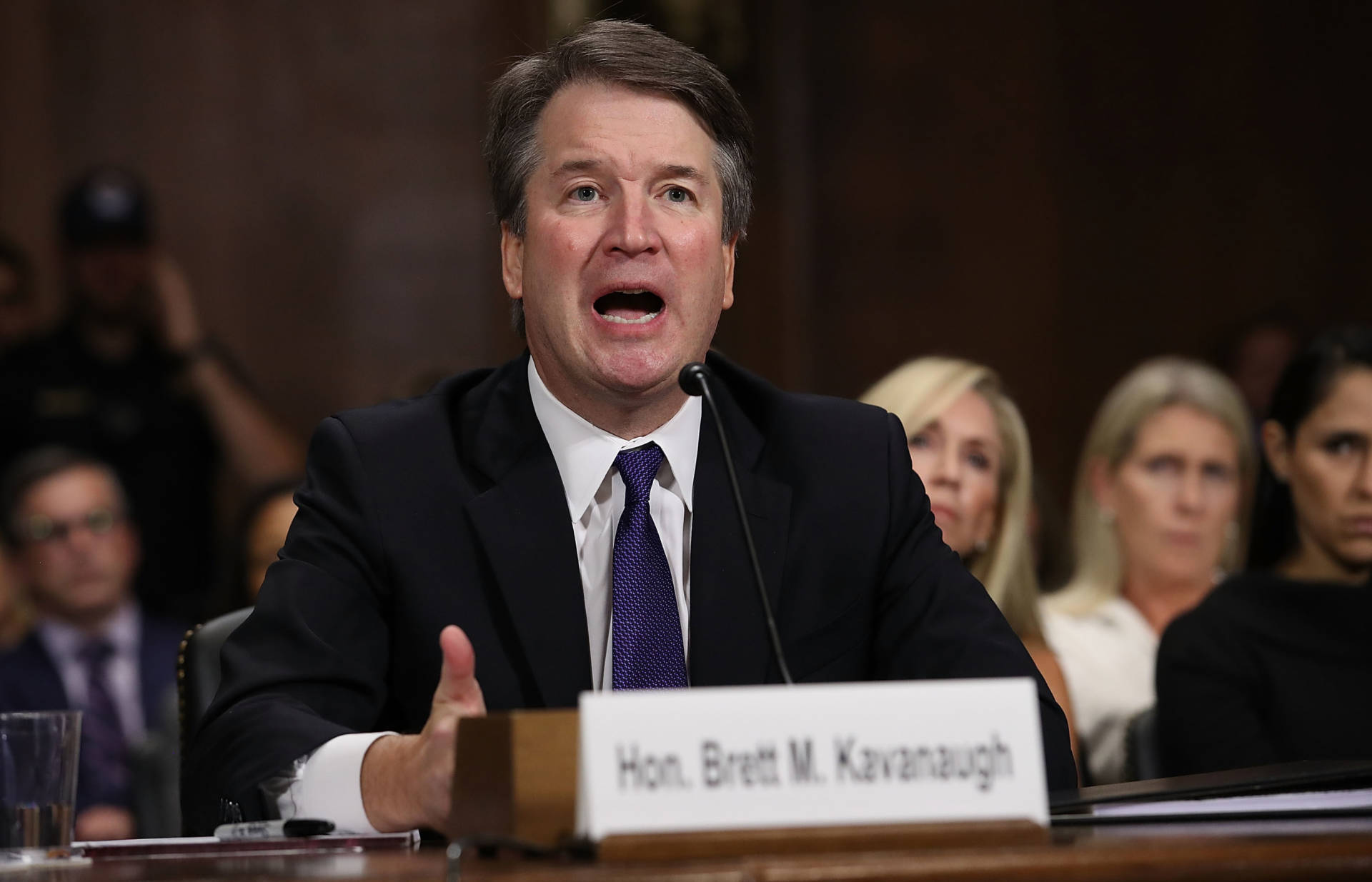 Judge Brett Kavanaugh testifies to the Senate Judiciary Committee during his Supreme Court confirmation hearing on Capitol Hill on Sept. 27. The Senate is taking a final vote on his nomination on Saturday.