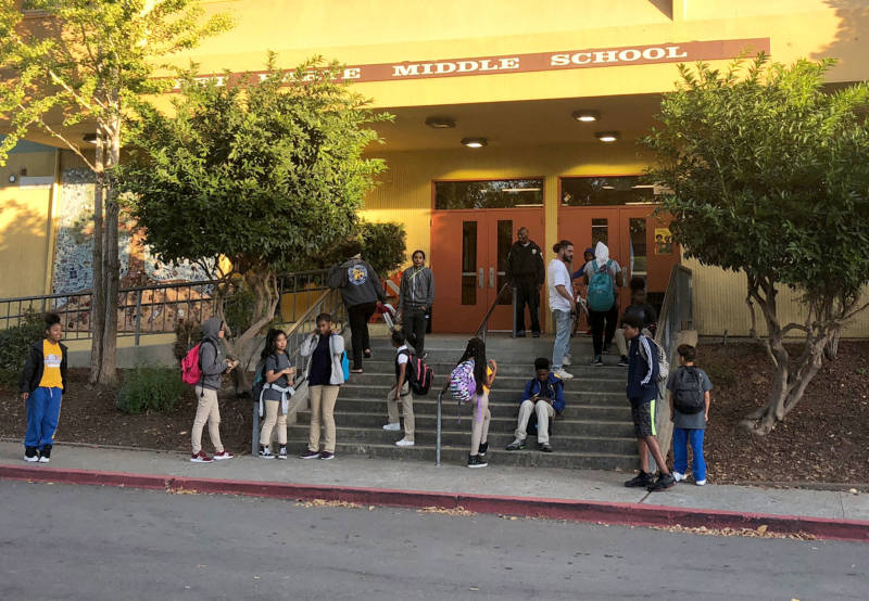 About 20 percent of students at Bret Harte Middle School get special education services. Many of them require medical care.
