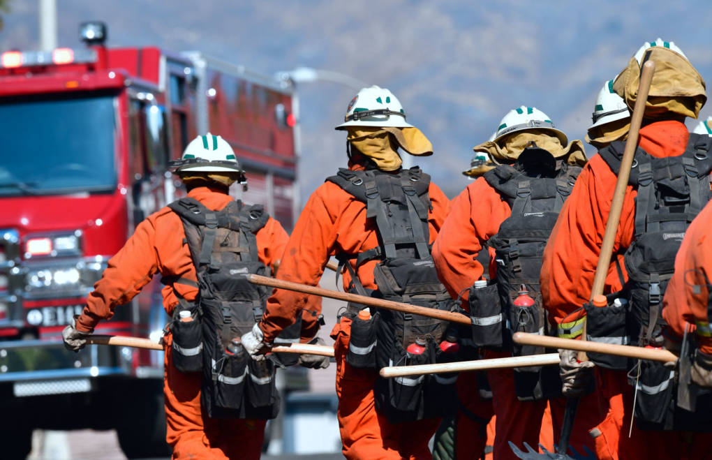 More Than 1,000 Inmate Firefighters Are Helping Battle Camp, Woolsey Blazes