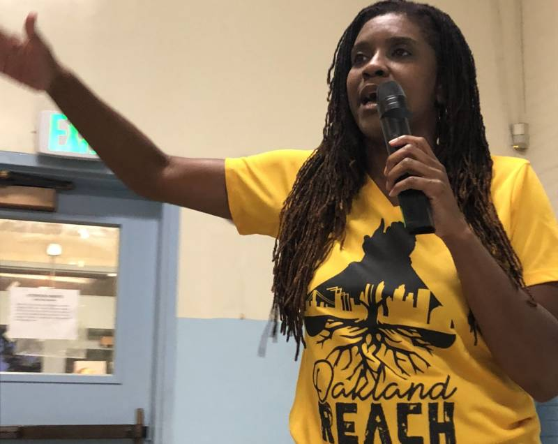 Oakland Reach founder Lakisha Young tells parents in low-performing schools to advocate for their kids.