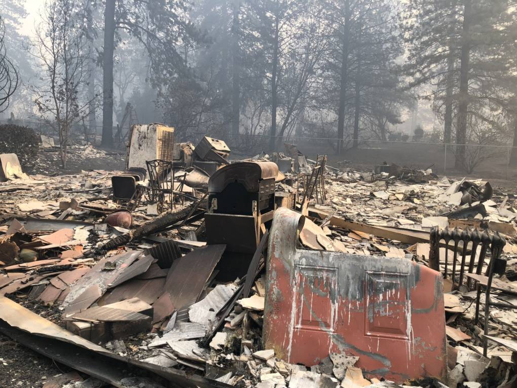 Paradise Apartments completely burned to the ground in the Camp Fire. Sonja Hutson/KQED