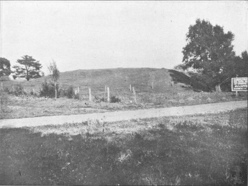 "A shellmound in Mill Valley, as photographed by archaeologist Nels Nelson in 1909. From Nelson's report ""Shellmounds of the San Francisco Bay Region."""