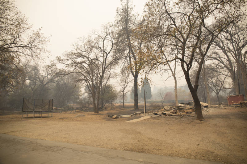 The site of Sabrina Hanes' home on Nov. 13, 2018.