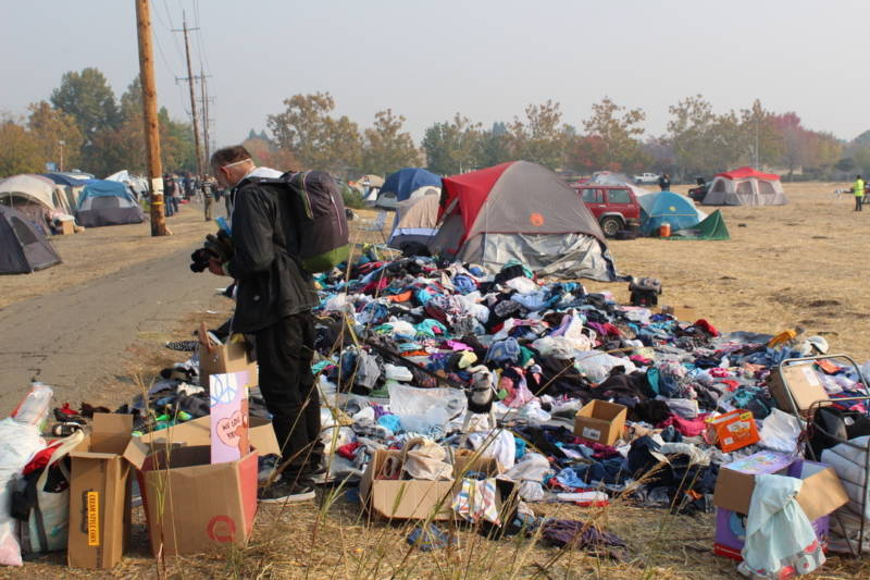 Shunning Shelters, Fire Evacuees Find Freedom but No Comfort in Walmart Tent Encampment