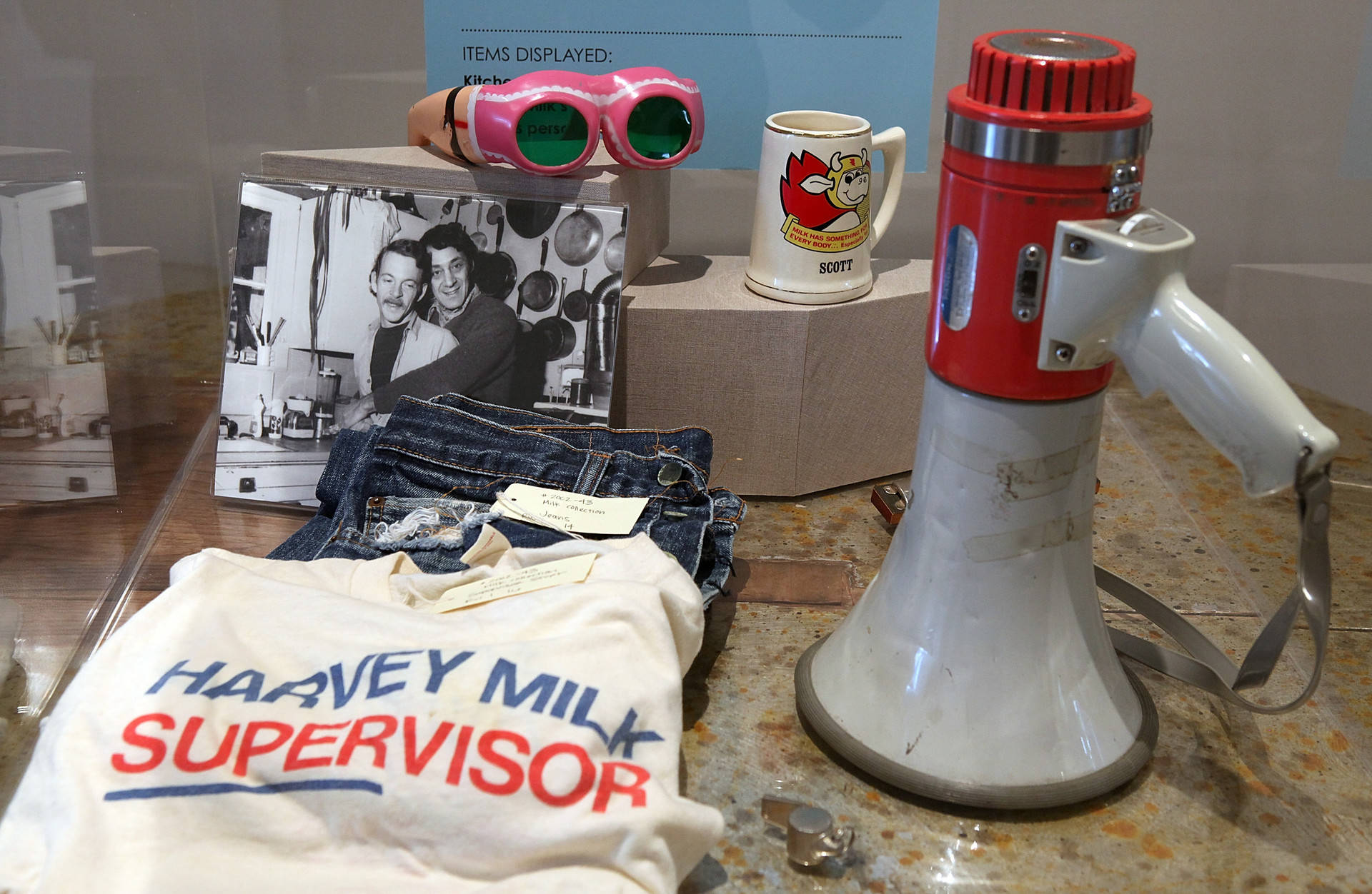 Personal possessions of the late San Francisco supervisor Harvey Milk are displayed during the grand opening of the Gay, Lesbian, Bisexual and Transgender History Museum on January 12, 2011 in San Francisco, California. Justin Sullivan/Getty Images