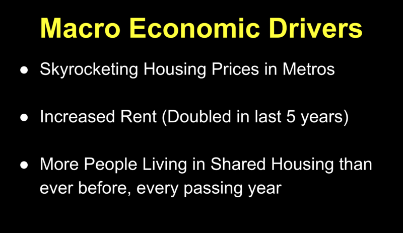 One of the slides from Jain's pitch deck for his startup, Cirtru.
