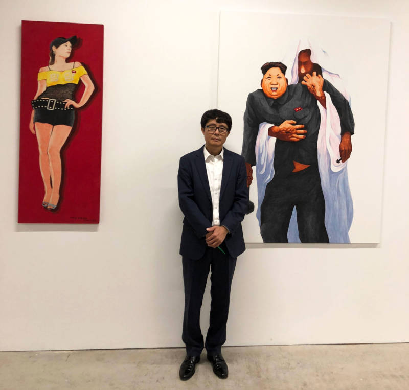 Song Byeok poses at Minnesota Street Project.