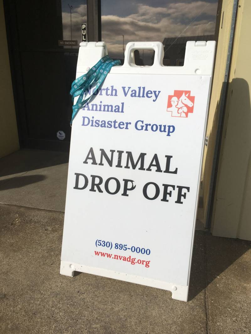 """North Valley Animal Disaster Group, """"Animal Drop Off"""" (KQED/Myrow)"""