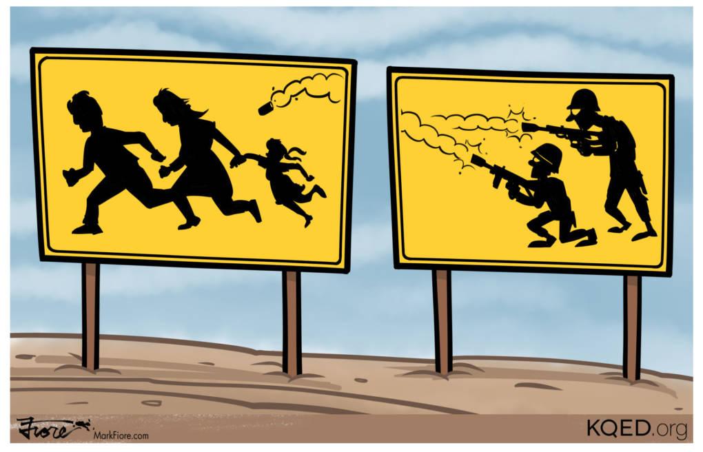 Tear-Gassing Asylum Seekers