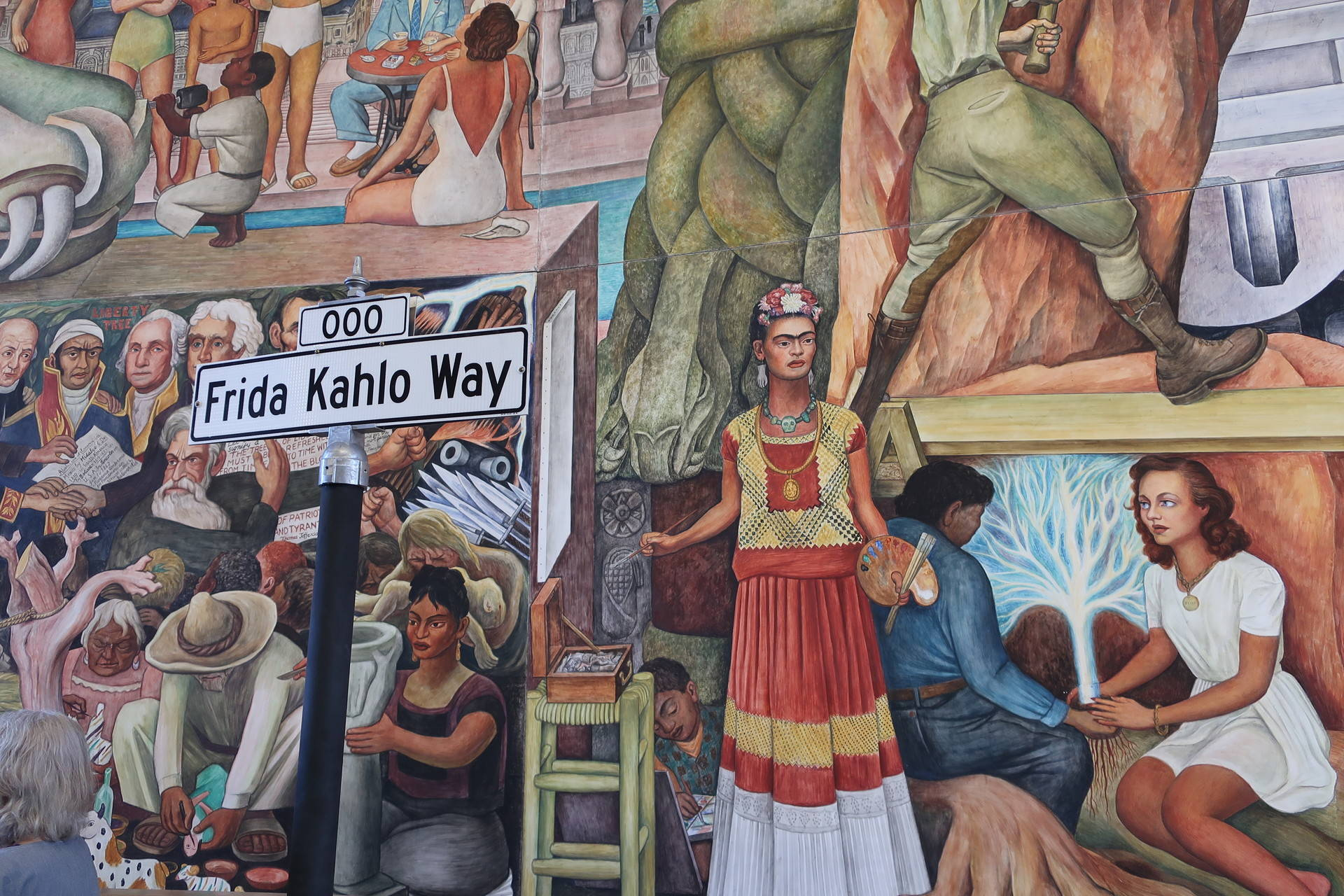 The newly named Frida Kahlo Way runs through the center of the City College of San Francisco's Ocean campus. Michelle Wiley/KQED
