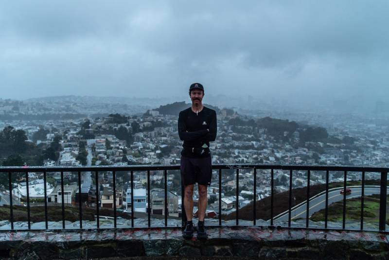 San Francisco-based ultrarunner Rickey Gates at the end of his 'Every Single Street' project where he ran all of San Francisco's streets in 46 days.