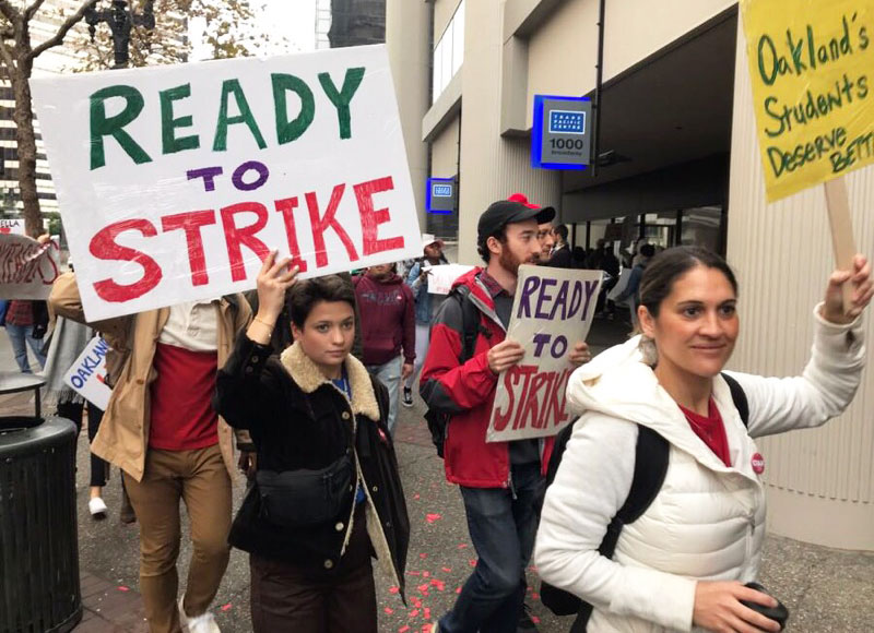 Oakland High School Teachers Hold One-Day 'Wildcat' Strike Over Wages