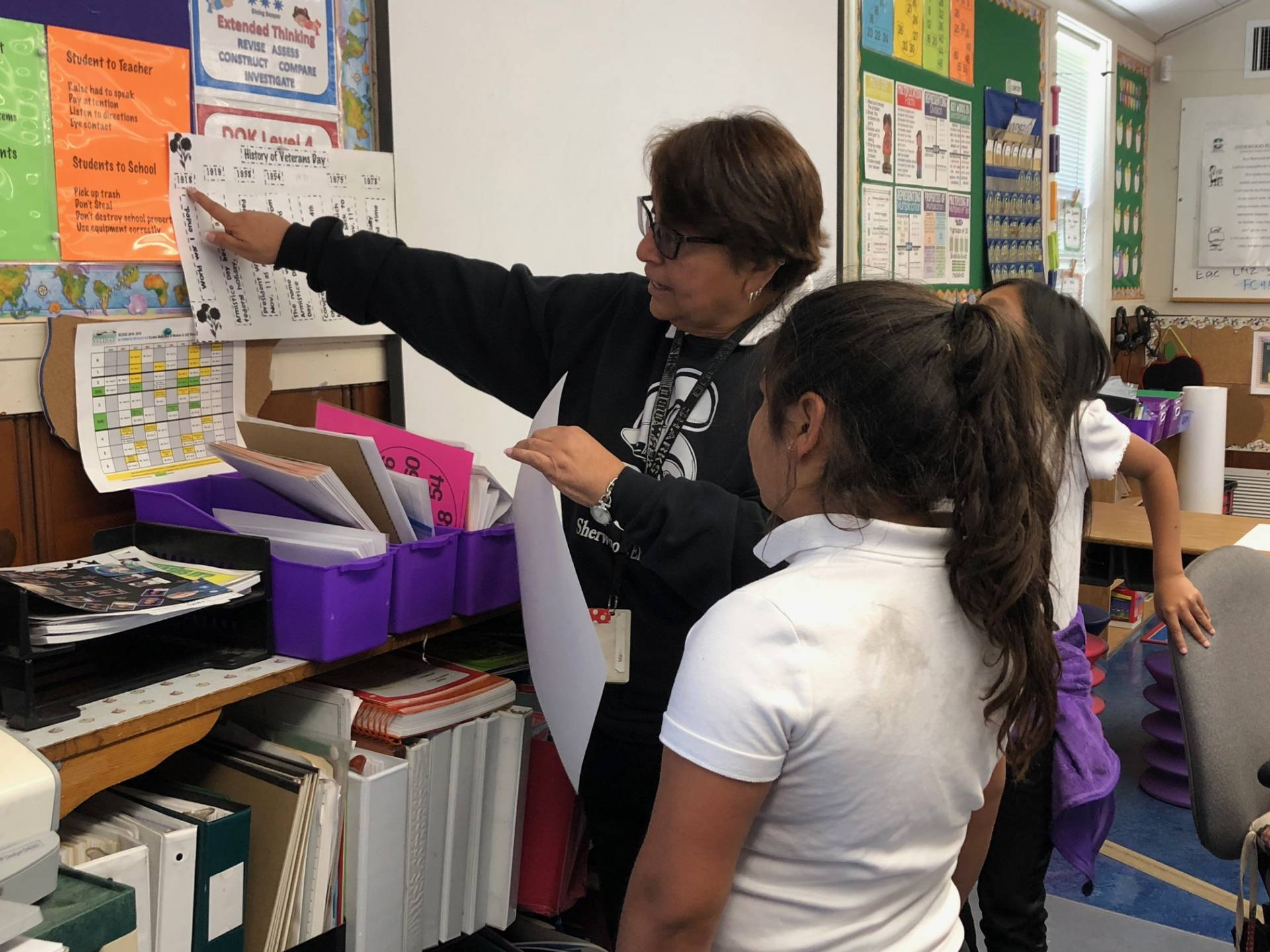 Maria Castellanos, a third-grade teacher at Sherwood Elementary School in Salinas, says about 80 percent of her students this year are homeless. Vanessa Rancaño/KQED